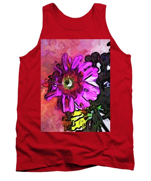 The Lavender Flower Above The Yellow Flower Tank Top