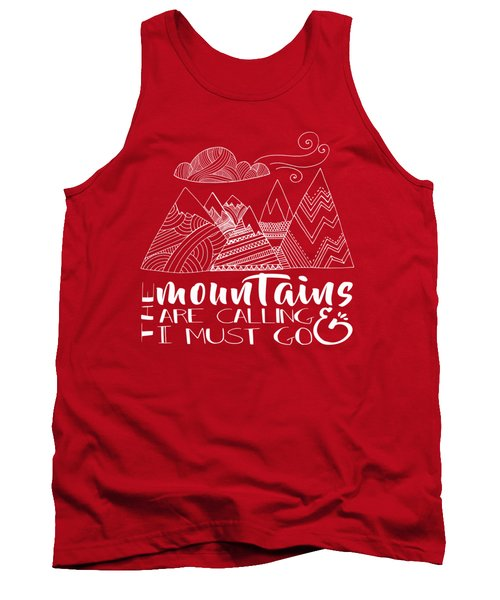 Tank Top featuring the digital art The Mountains Are Calling by Heather Applegate