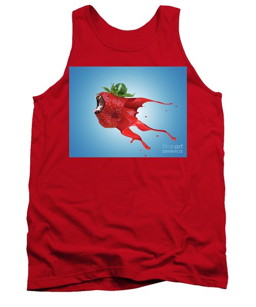 Tank Top featuring the photograph The New Gmo Strawberry by Juli Scalzi