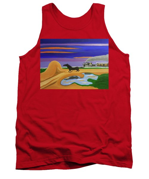Tank Top featuring the painting The Night Race by Margaret Harmon