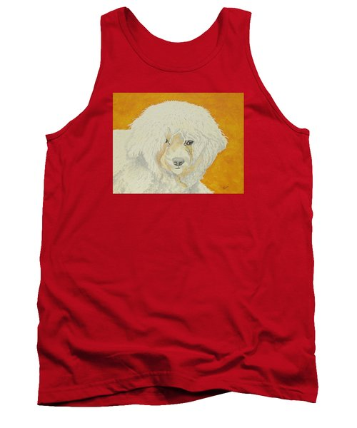 The Old Poodle Tank Top by Hilda and Jose Garrancho