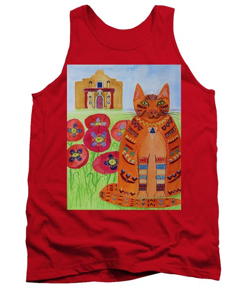 the Orange Alamo Cat Tank Top