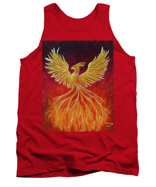 Tank Top featuring the painting The Phoenix by Teresa Wing