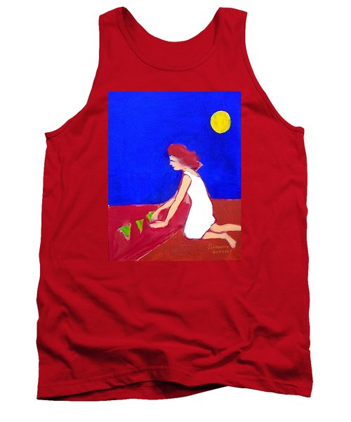 Tank Top featuring the painting The Planting by Winsome Gunning