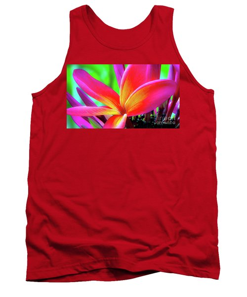 The Plumeria Flower Tank Top