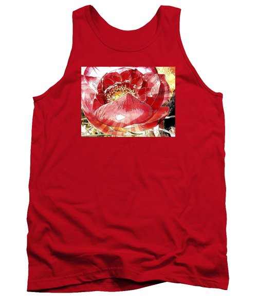 The Red Flower Blooms Tank Top
