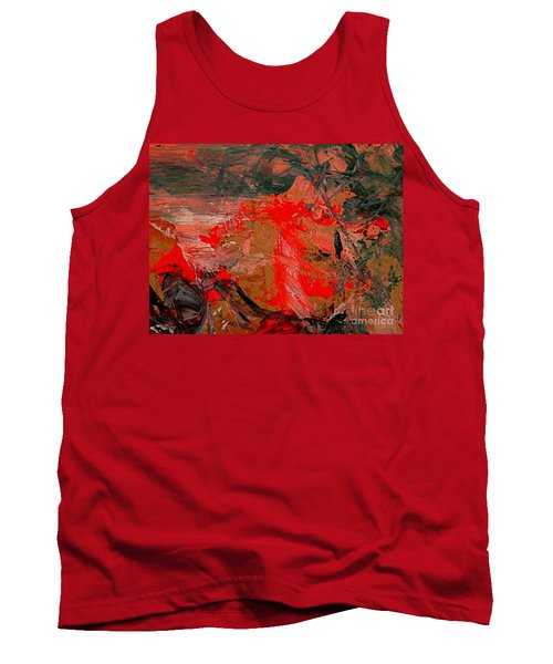 Tank Top featuring the painting The Red Garden by Nancy Kane Chapman