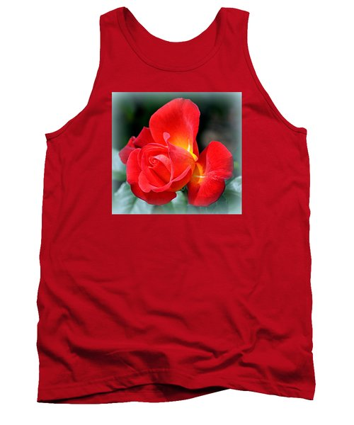 The Red Rose Tank Top by AJ  Schibig
