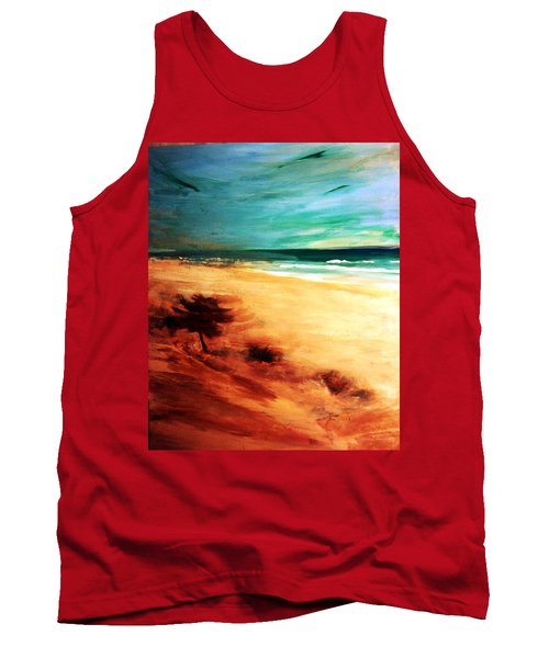 Tank Top featuring the painting The Remaining Pine by Winsome Gunning