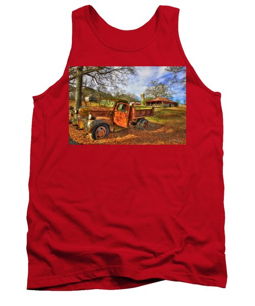 The Resting Place 2 Farm Life 1947 Dodge Dump Truck Art Tank Top