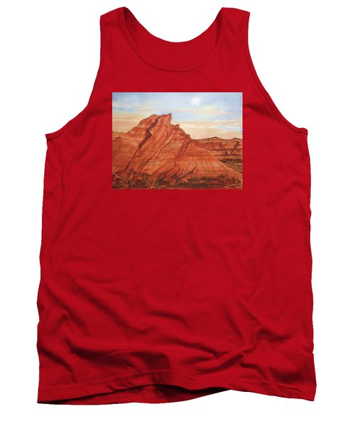 Tank Top featuring the painting The Teepees by Ellen Levinson