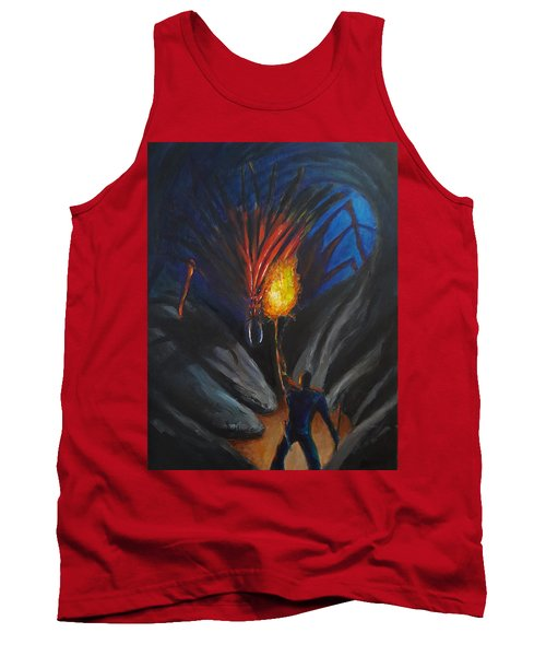 The Thing In The Cave Tank Top by Chris Benice