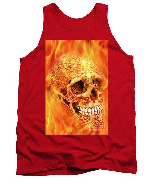 Flaming Skull Tank Top