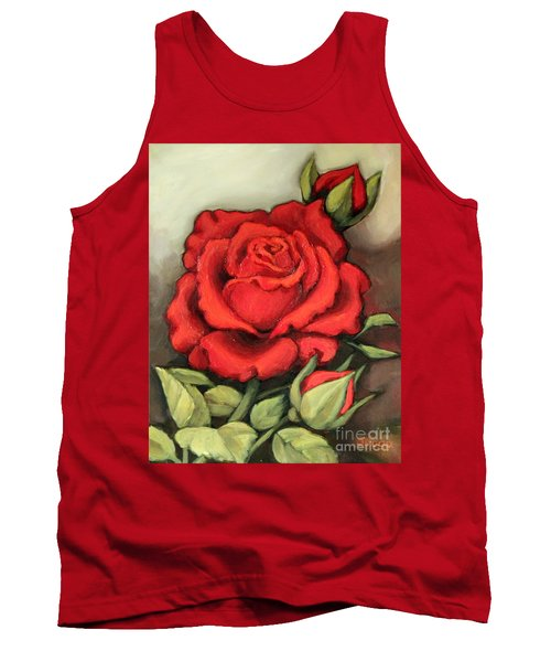 The Very Red Rose Tank Top by Inese Poga