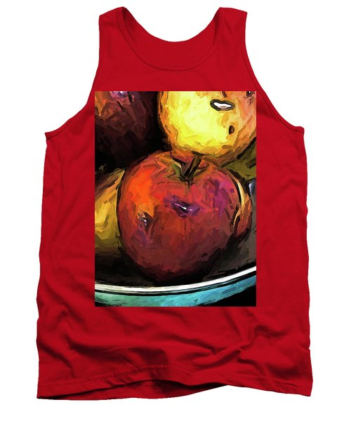 The Wine Apple With The Gold Apples Tank Top