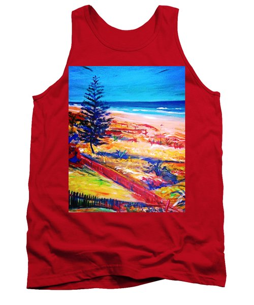 Tank Top featuring the painting The Winter Dunes by Winsome Gunning