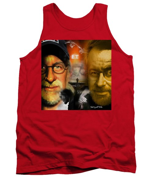 Tank Top featuring the digital art The World Of Steven Spielberg by Ted Azriel