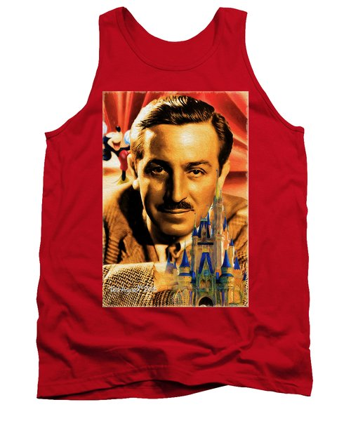 Tank Top featuring the painting The World Of Walt Disney by Ted Azriel
