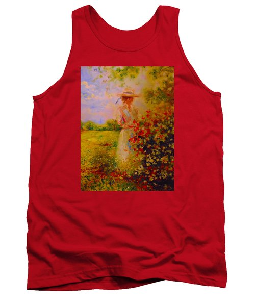 Tank Top featuring the painting This Is A Good View by Emery Franklin