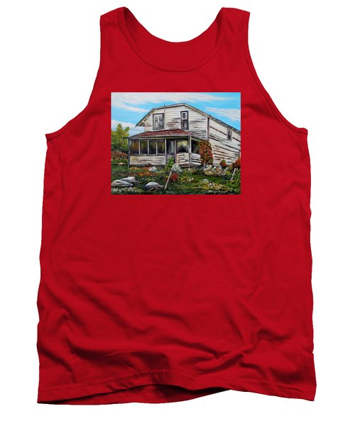 Tank Top featuring the painting This Old House 2 by Marilyn  McNish