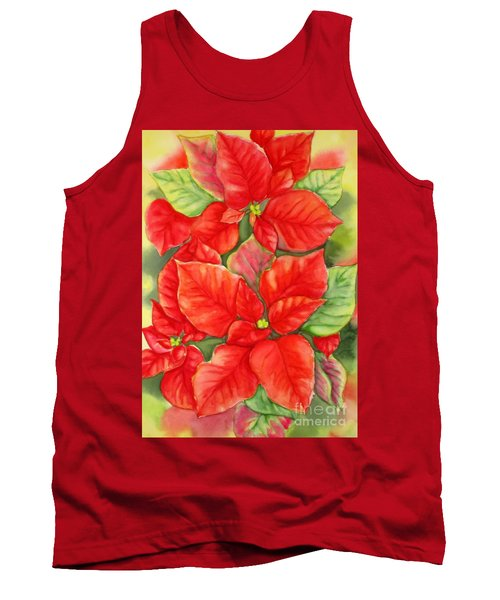 This Year's Poinsettia 1 Tank Top by Inese Poga