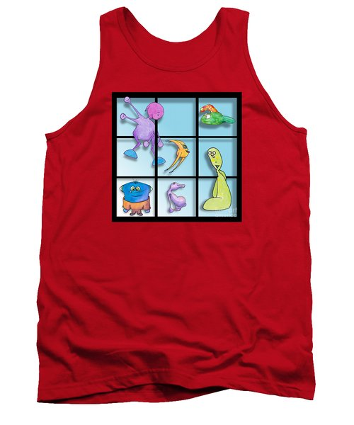 Three By Whee Tank Top by Uncle J's Monsters