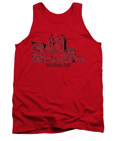 Three Gossips Drawing At Arches Tank Top