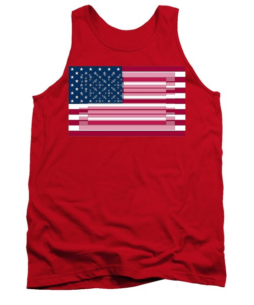 Three Layered Flag Tank Top by David Bridburg