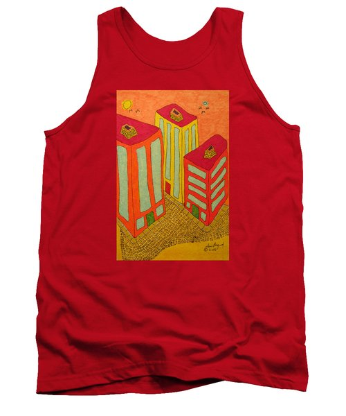 Three Office Towers Tank Top