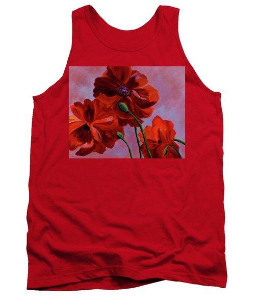 Three Oriental Poppies Tank Top