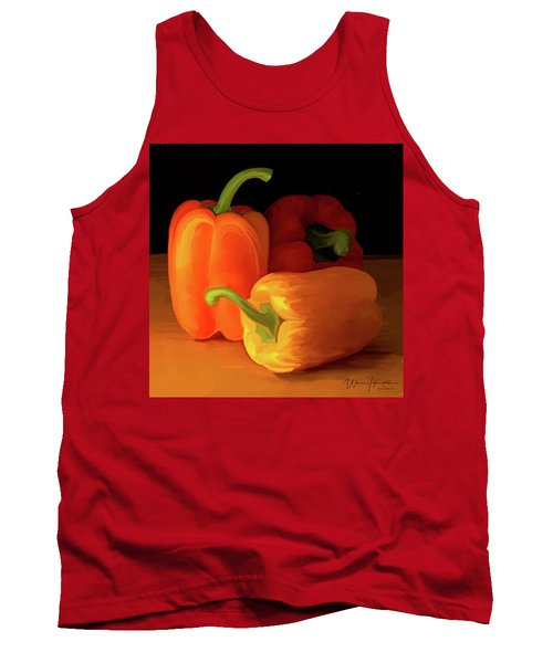 Three Peppers 01 Tank Top by Wally Hampton