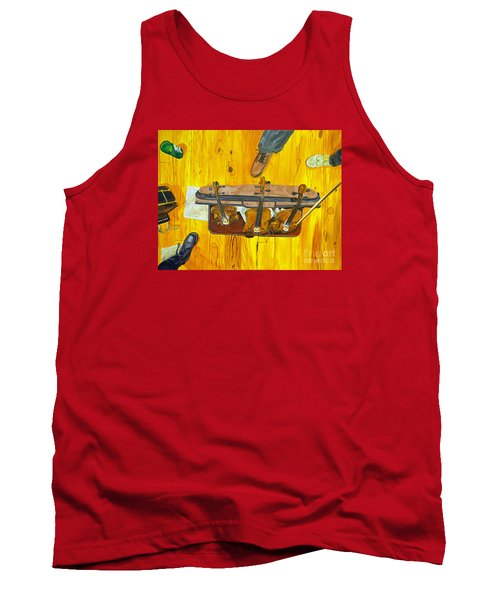 Tank Top featuring the painting Three Violins by Jock McGregor
