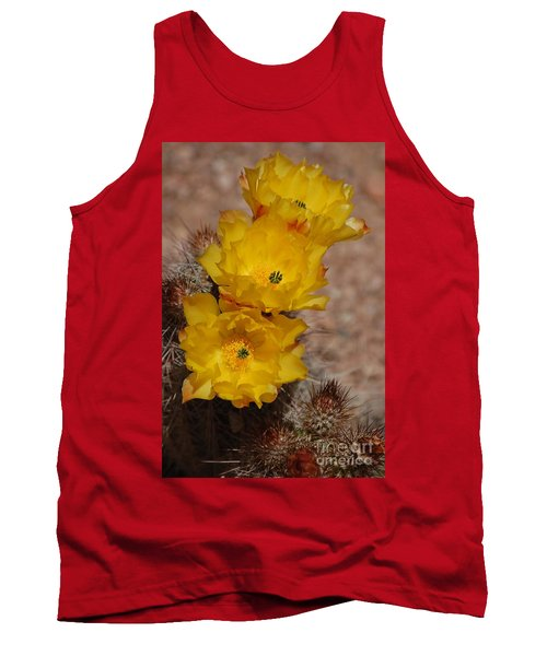 Three Yellow Cactus Flowers Tank Top