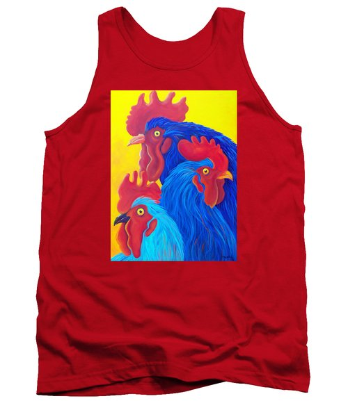 Tank Top featuring the painting Three's A Crowd by Susan DeLain