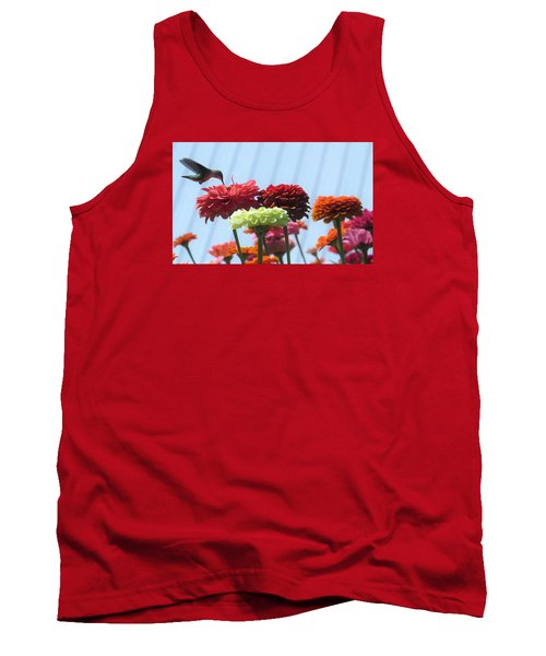 Tank Top featuring the photograph Thristy Hummer by Jeanette Oberholtzer