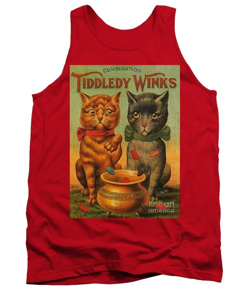 Tiddledy Winks Funny Victorian Cats Tank Top by Peter Gumaer Ogden Collection