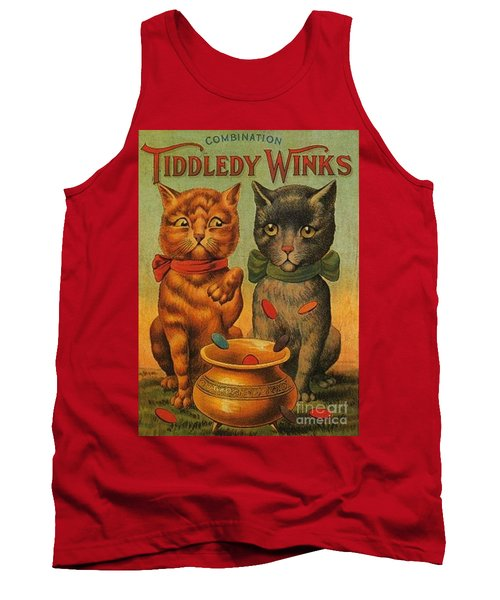 Tiddledy Winks Funny Victorian Cats Tank Top