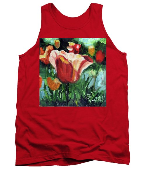 Tank Top featuring the painting Tip Toe Thru The Tulips by Billie Colson