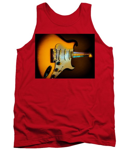 Tobacco Burst Stratocaster Glow Neck Series Tank Top