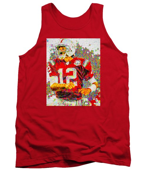 Tom Brady New England Patriots Football Nfl Painting Digitally Tank Top