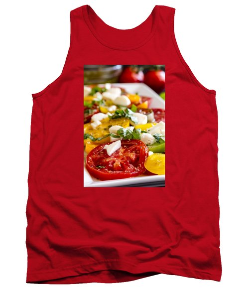 Tomatoes, Basil And Cheese Tank Top