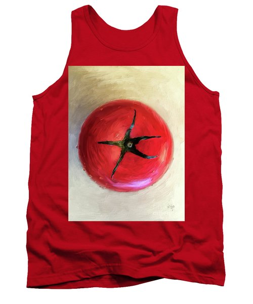Tank Top featuring the digital art Tomato by Lois Bryan