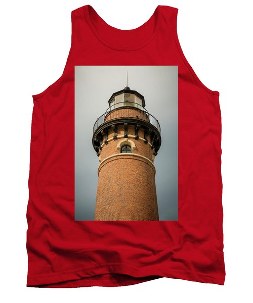 Tank Top featuring the photograph Top Of Little Sable Point Lighthouse by Adam Romanowicz