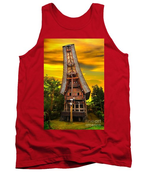Tank Top featuring the photograph Toraja Architecture by Charuhas Images