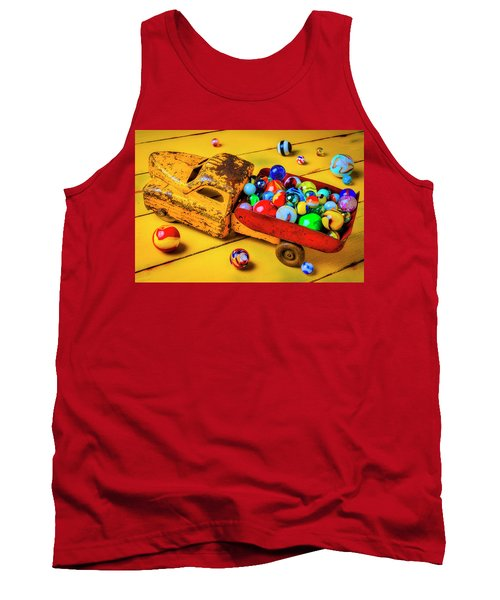 Toy Dump Truck With Marbles Tank Top
