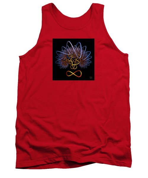 Tank Top featuring the digital art Transinfinity - A Fractal Artifact by Manny Lorenzo