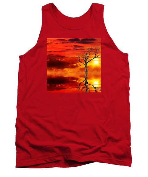 Tank Top featuring the mixed media Tree Of Destruction by Gabriella Weninger - David