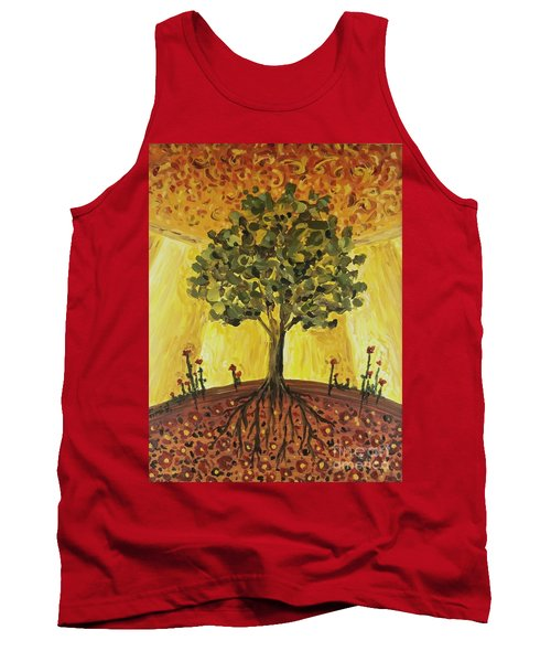 Tank Top featuring the painting Tree Of Life by Maria Langgle