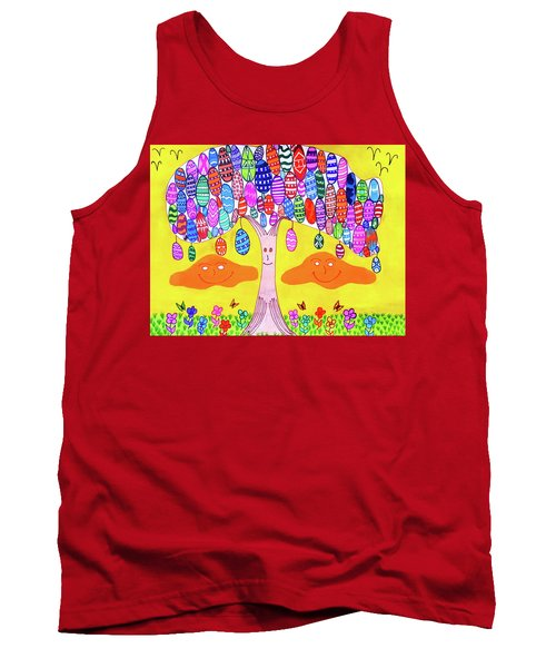 Tree Of The Easter Eggs Tank Top