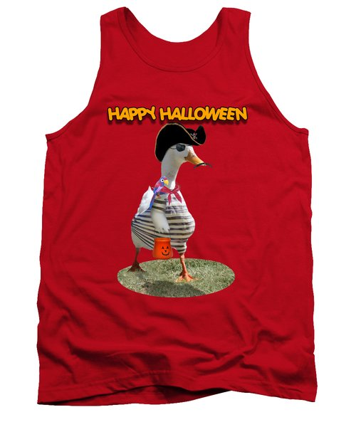 Trick Or Treat For Cap'n Duck Tank Top by Gravityx9 Designs
